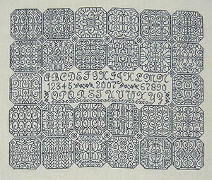 Blue Velvet Inscription Sampler