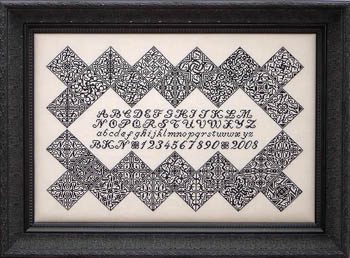 Black Velvet Inscription Sampler