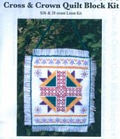 Cross and Crown Quilt Block Kit