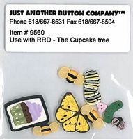 Cupcake Tree Button Pack